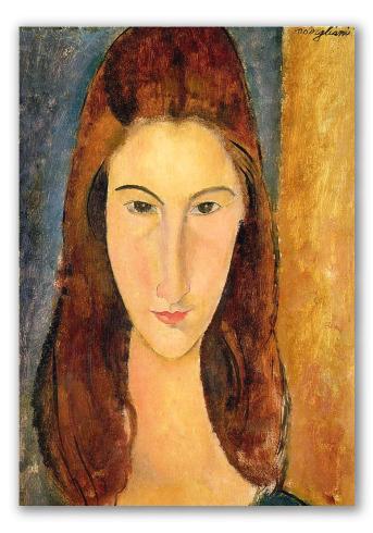 Ritratto frontale di Jeanne Hébuterne