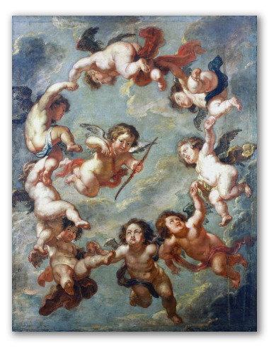 Putti, a Ceiling Decoration. Rubens