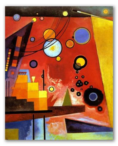 Schweres Rot - Vassily Kandinsky