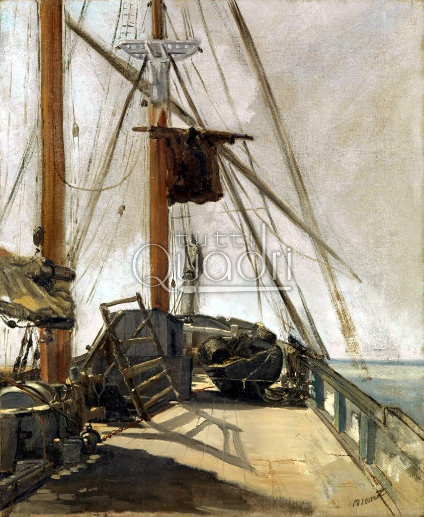 Quadro la coperta della barca di manet modernismo francese for Planimetrie della coperta