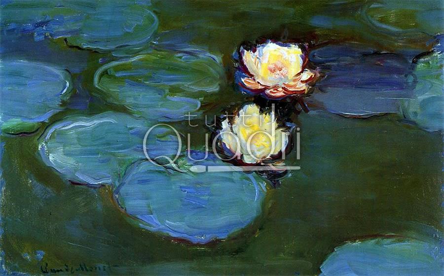 Quadri Moderni Fiori : Quot gigli d acqua di monet quadri impressionisti con fiori