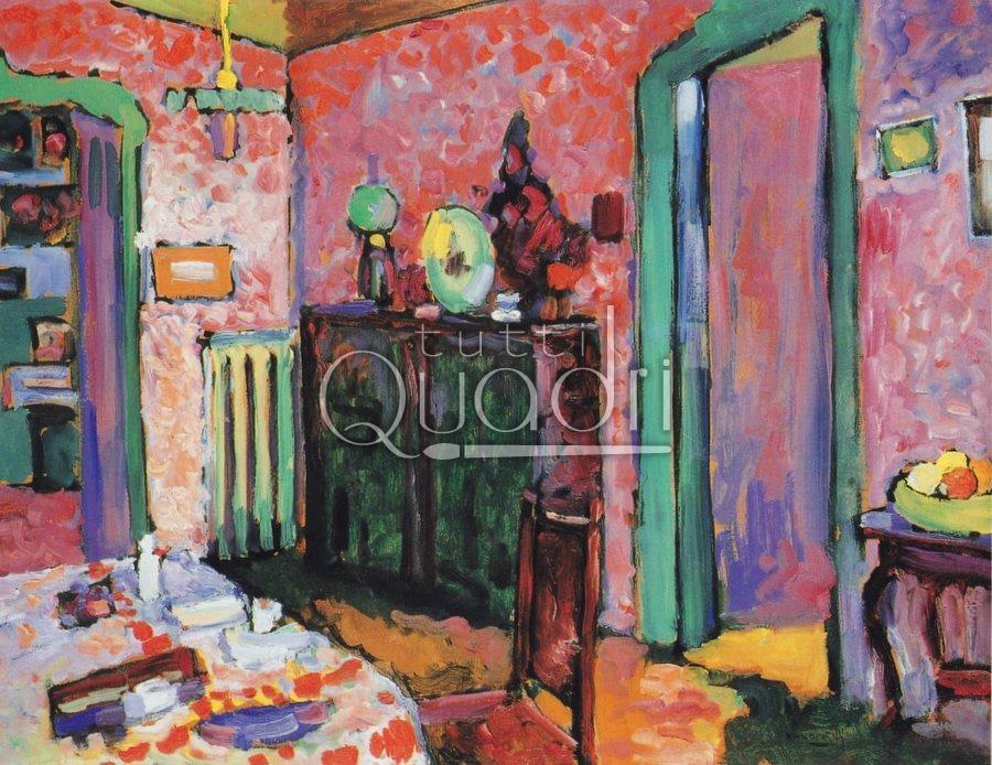 interno la mia sala da pranzo kandinsky quadro su