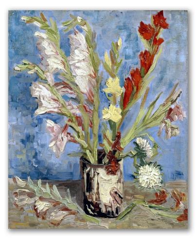 Vaso di Gladioli e Astri Cinesi
