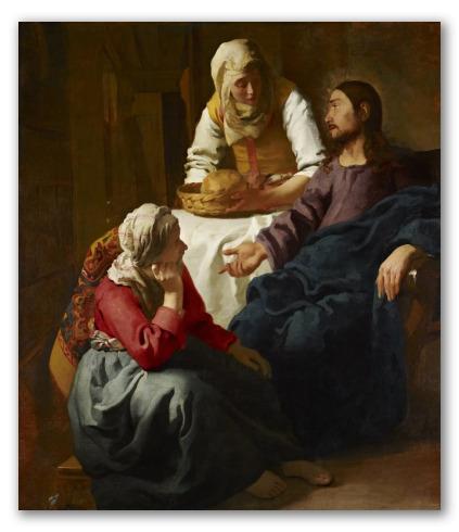 """""""Cristo in casa di Marta e Maria"""" di Verneer"""