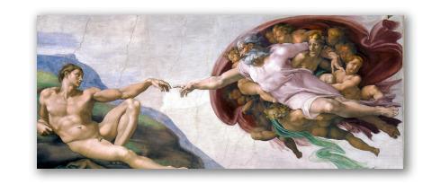 """""""La Creazione di Adamo"""" di Michelangelo"""