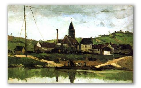 Veduta di Bonnieres
