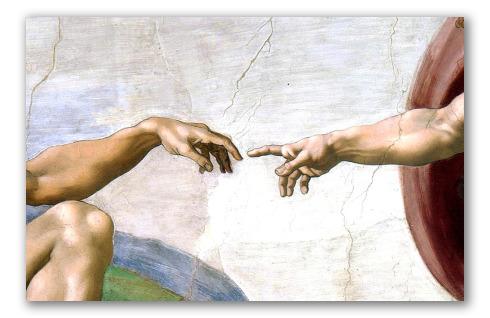 """""""La Creazione di Adamo"""" Dettaglio"""