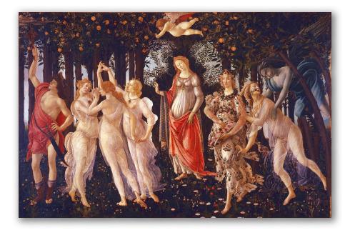 """""""La Primavera"""" di Sandro Botticelli"""