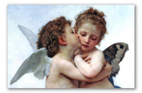 Particolare di Amore e Psiche, Bouguereau.