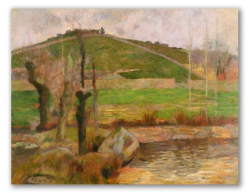 """""""Paesaggio vicino a Pont-Aven"""" di Gauguin"""