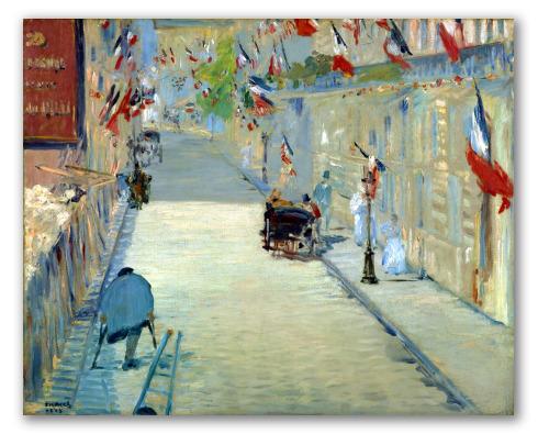 La Rue Mosnier aux Drapeaux