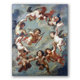 Putti, a Ceiling Decoration. Rubens