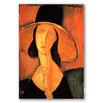 Jeanne Hébuterne con Cappello